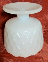 Vintage Honeycomb Milk Glass Compote Candy Dish EO Brody Co. Cleveland Ohio image 7