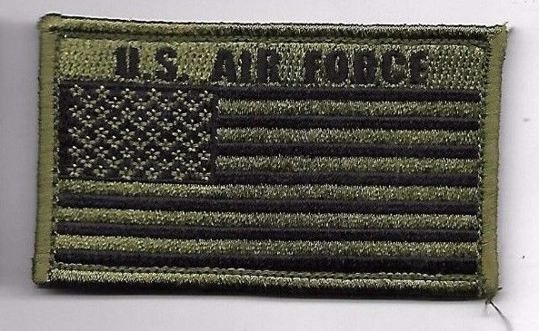 Primary image for AIR FORCE OD FLAG 2 X 3  EMBROIDERED PATCH WITH HOOK LOOP