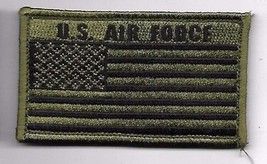 AIR FORCE OD FLAG 2 X 3  EMBROIDERED PATCH WITH HOOK LOOP - $15.33