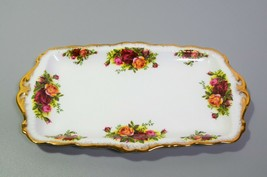 Royal Albert Old Country Sandwich Tray Plate Rectangular Original Backst... - $38.52