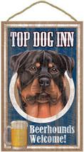 "Top Dog Inn Beerhounds Rottweiler Bar Sign Plaque dog 10""x16""  Beer - $21.95"