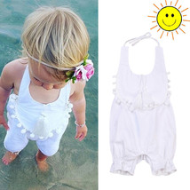 2017 Pudcoco White Infant Newborn Baby Girls Brand New Romper Solid Band... - $11.39