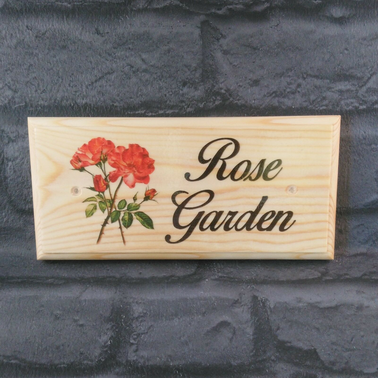 Primary image for Rose Garden Plaque / Sign- Grandma Nanny Grandad Allotment Shed Home Flowers 468