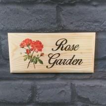 Rose Garden Plaque / Sign- Grandma Nanny Grandad Allotment Shed Home Flowers 468 - $12.46