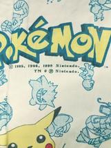 Vintage Nintendo Pokemon Twin Fitted Sheet Pikachu Poke Balls 1998 - $19.79