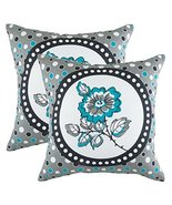 TreeWool 2 Pack Throw Pillow Covers Polka Botany Accent Decorative Pillo... - $16.99