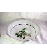 """Japan China White Rose Round Vegetable Bowl  9"""" #3939 - $6.29"""