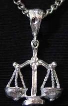 LOOK Libra scales Pendant Zodiac Charm Silver .925 Jewelry - $14.56