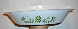 Vintage Divided SERVER/BAKER Dish Glasbake Green Floral (Daisy) PATTERN~1960's - $9.89