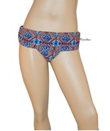 Jessica Simpson Women's Swimsuit Bikini Bottom Skirted Hipster Large Exo... - $4.99
