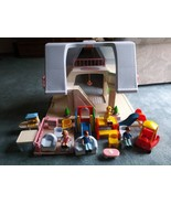 Original Vintage Little Tikes Dollhouse Blue Roof  Family Furniture Acce... - $80.00