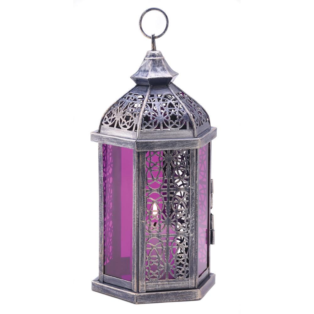 Enchanted Fuschia Candle Lantern