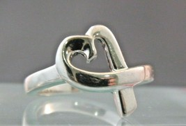 Tiffany&Co Paloma Picasso Loving Heart Ring Sterling Silver Sz 6.50  - $113.84