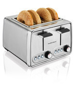 Modern Toaster 4-Slice Bagels Sliced Bread Countertop Kitchen Dorm Funct... - £35.59 GBP