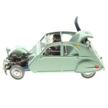 Crashed Citroen 2cv Castafiore The Emerald Voiture Tintin cars 1/43 image 3