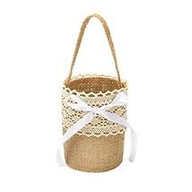 "Flower Basket Linen 9 7/8"" (25 cm) Lace Flower 1 - $5.98"
