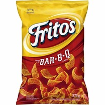 12 Bags Fritos BBQ Corn Chips LARGE Size 370g FRITO LAY From Canada FRESH! - £53.40 GBP