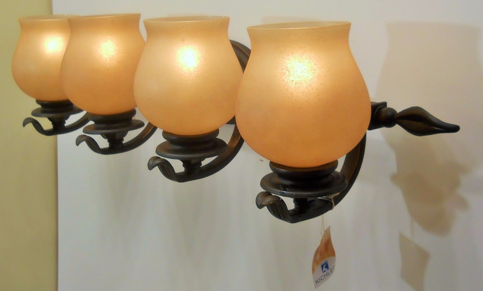 Exclusive Bronze Finish Wall Bathroom Bath Vanity Light Fixture Scroll Work