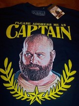 THE HANGOVER 2 ZACH GALIFIANAKIS CAPTAIN T-Shirt SMALL NEW w/ tag - $19.80