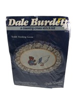 Dale Burdett 14 Count Cross Stitch Kit Teddy Feeding Goose Ck 101 From 1985 - $19.59