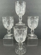 4 Tulip with Sawtooth Water Goblet Antique Bryce 1854 Early American Cle... - $177.87
