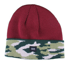 Dope Couture Maroon Red Camo Beanie
