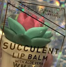 New In Box Taste Labs Vanilla Flavored WHAT UP SUCCA Succulent Lip Balm W Aloe image 5