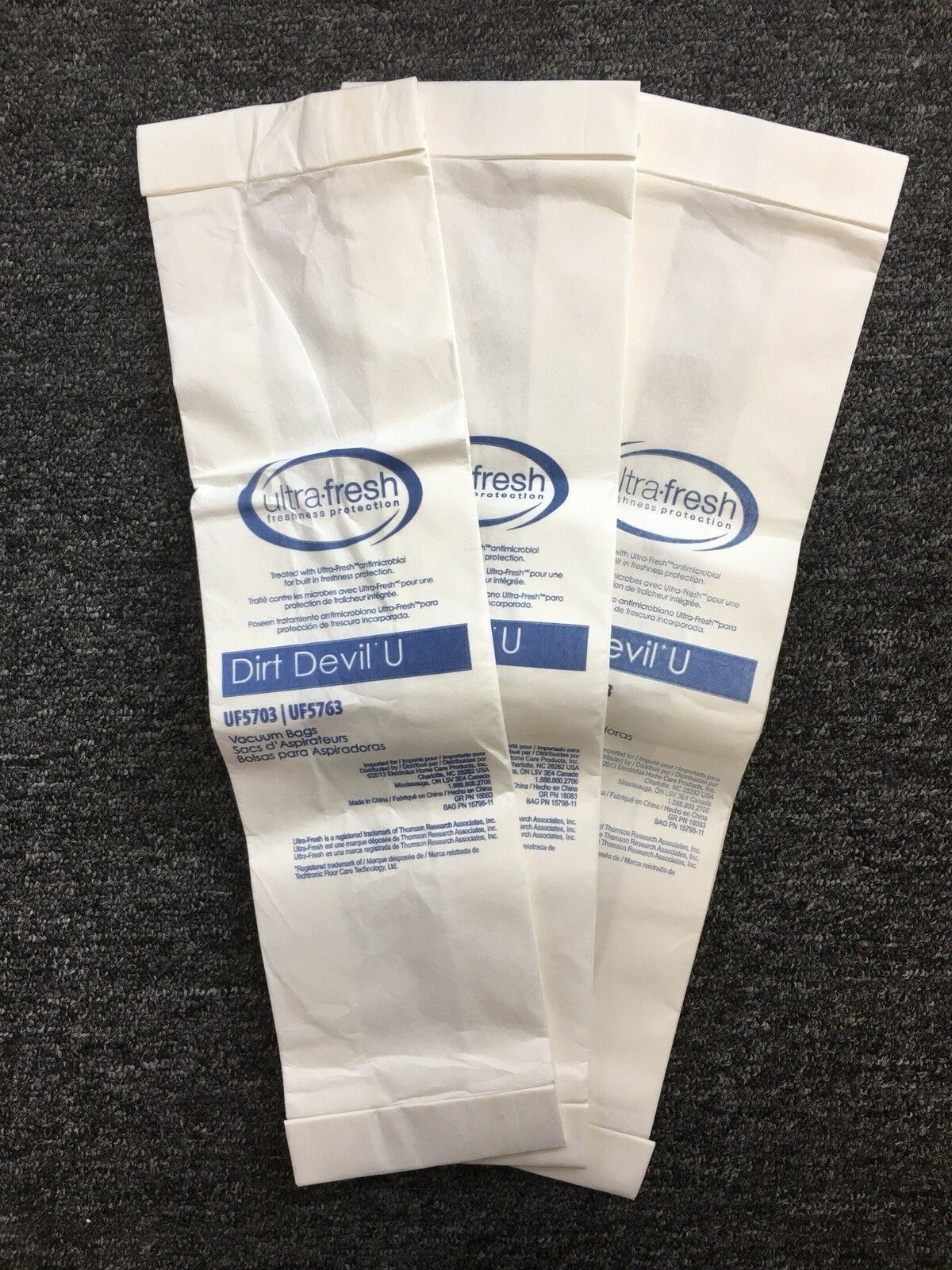 DIRT DEVIL TYPE U 10 Pack VACUUM CLEANER BAGS Swivel Glide Upright 3920048001 image 5