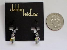 Dabby Reid Heidi Drop Earrings AB Crystal Swarovski Hematite-plated HDE ... - $14.84