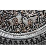 Decorative Ghalamzani Hand Engraved Copper Dish (40cm) - Flower and Bird... - $59.00
