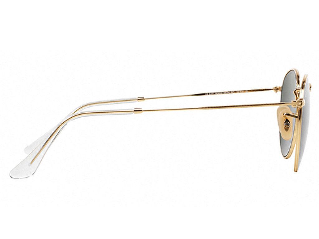 Nuovo Ray-Ban Rotondo di Metallo RB3447 001 Oro W/G-15 50mm