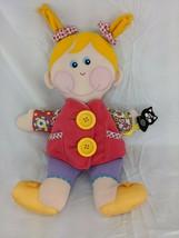 "Playskool Dressy Bessy Doll Plush 14"" 2001 Stuffed Animal Toy - $9.95"
