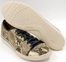 Clarks Penwick Abbott Lace Up Sneakers Beige/Black Women's Shoes Sz 8.5 M *NEW* - $47.02
