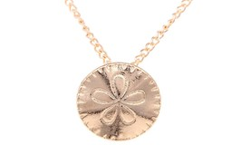 Fashion Gold-color Sand Dollar Pendant Necklace For Women - $13.49