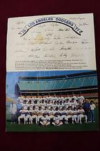 1977 Los Angeles Dodgers Team Photo w Fascimile Autos 1977 Division Cham... - $19.79