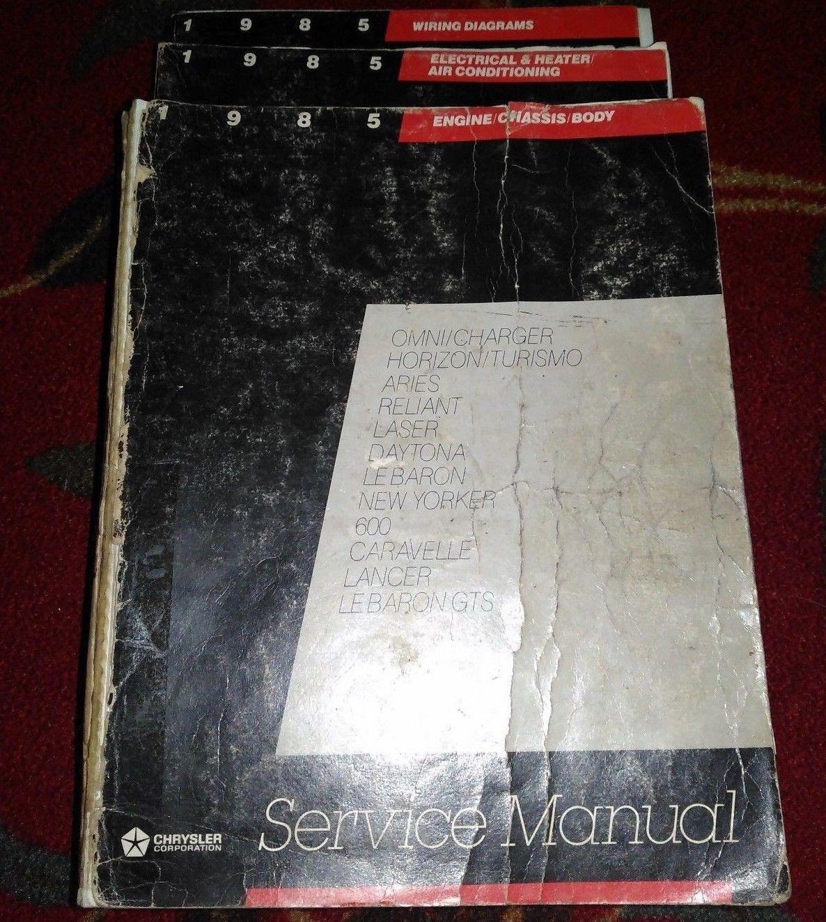 1985 Chrysler Mopar New Yorker Service Shop And Similar Items Lebaron Wiring Diagrams Repair Workshop Manual Set Oem Books