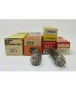Lot of 7 Electronic Tube Vacuum 3DF3,3DB3,1X2A,2AV2,2BJ2,50C6,604 D - $10.88