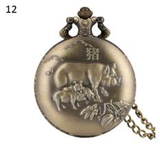 Antique Animal Watch Necklace Pendant Bronze Chinese Zodiac Commemorativ... - $12.90