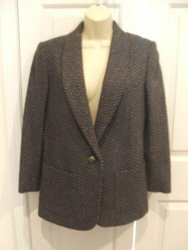 new in pkg santa cruz  CHEVRON tweed wool blend blazer jacket  junior size 5