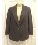 new in pkg santa cruz  CHEVRON tweed wool blend blazer jacket  junior si... - $79.19