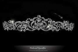 Brianna Romantic Royal Silver Tiara | Swarovski Crystal - $85.95