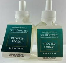 Lot 2 Bath Body Works Wallflowers Refill .8 fl oz ea FROSTED FOREST - $15.83