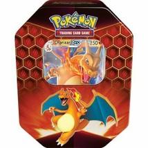 Pokemon Hidden Fates Charizard Tin 4 Booster Packs + Promo Card TCG  - $27.95