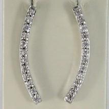 Silber Ohrringe 925 Rhodiniert mit Hörmuschel Hardcover mit Cubic Zirkonia Weiß image 1