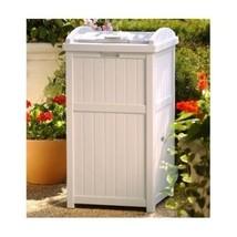 Garbage Can Trash Bin Outdoor Patio Storage Hideaway Waste Container Gar... - $83.29
