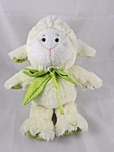 "Animal Adventure Sheep Lamb Plush 11"" 2010 Green Polka Dots Stuffed Animal - $11.81"