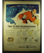 1950 General Electric Lamps Advertisement - art by Fritz Siebel - Longer... - $14.99