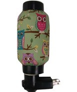 JAPANESE LANTERN NIGHT LIGHT SOFT LT GREEN FABRIC PASTEL OWLS TREE BRANC... - £9.41 GBP