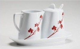 MarlaDawn Sugar Creamer 5 Piece Set  Dogwood Blossom New In Box - $39.55