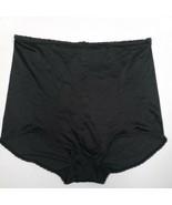 Vtg Henson Kickernick Black Satin Panties Sz 7 40 Rear Seam Skimp Skamp ... - $18.79